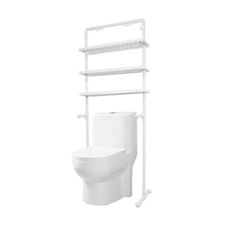 Jual AIUEO Bathroom Multifunction Shelf Rak Penyimpanan Kamar Mandi [3 Susun] Online - Harga & Kualitas Terjamin | Blibli.com