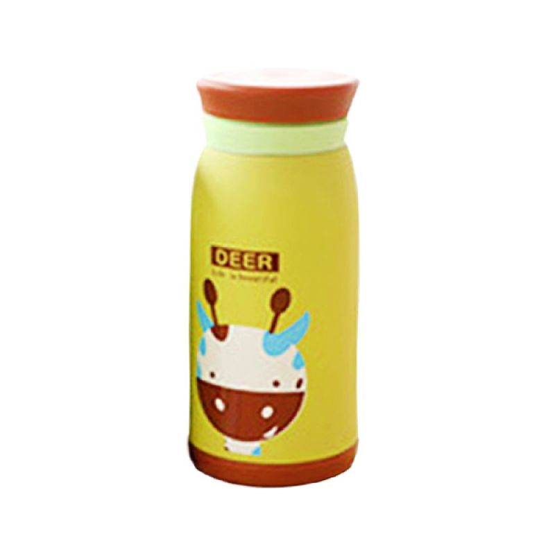 AIUEO Cute Korean Deer Green Water Bottle [500 mL]