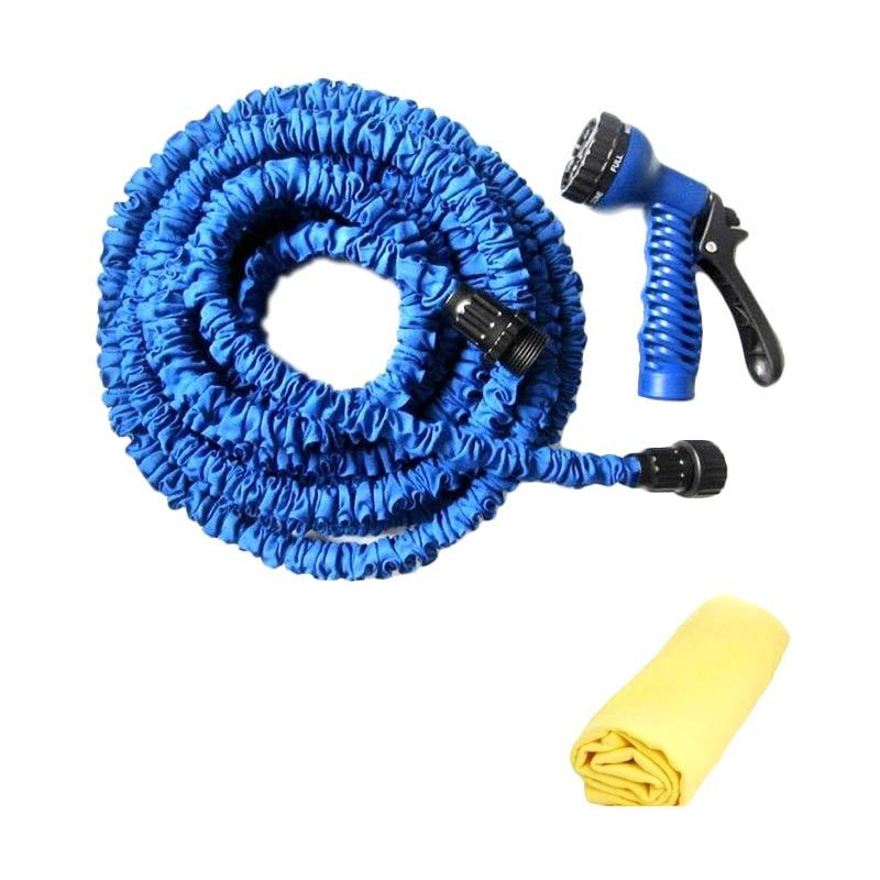 AIUEO Magic Expandable X-Hose 37.5 M Biru + Lap Plas Chamois