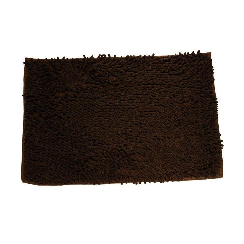 AIUEO Microfiber Dark Brown Keset [40 x 60 cm]