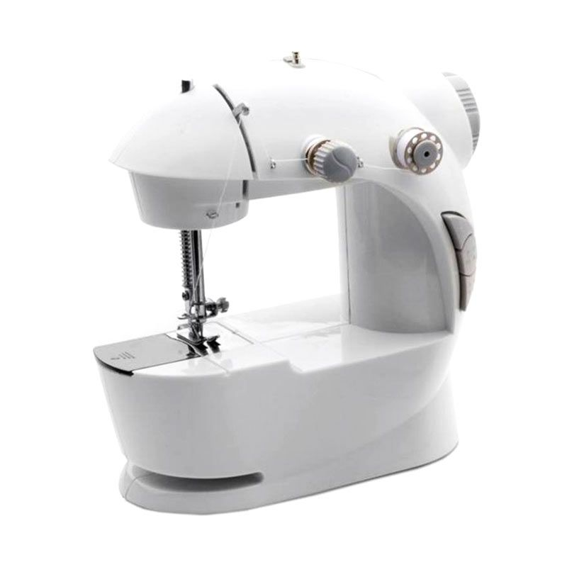 AIUEO Mini Sewing Machine White No Adaptor Mesin Jahit