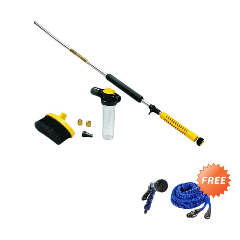 AIUEO OEM Zoom High Pressure Cleaner Yellow Jet Water + X-hose Auto Expandable [7.5 m]