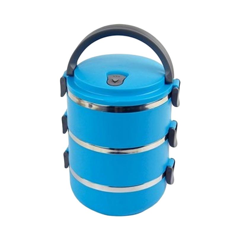 harga Misson Eco Lunch Box Stainless Steel Rantang - Blue [3 Susun] Blibli.com
