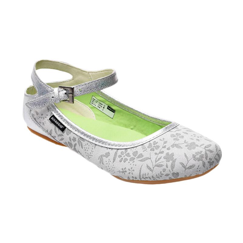 Aixaggio Candle White Grey Silver Sepatu Anak