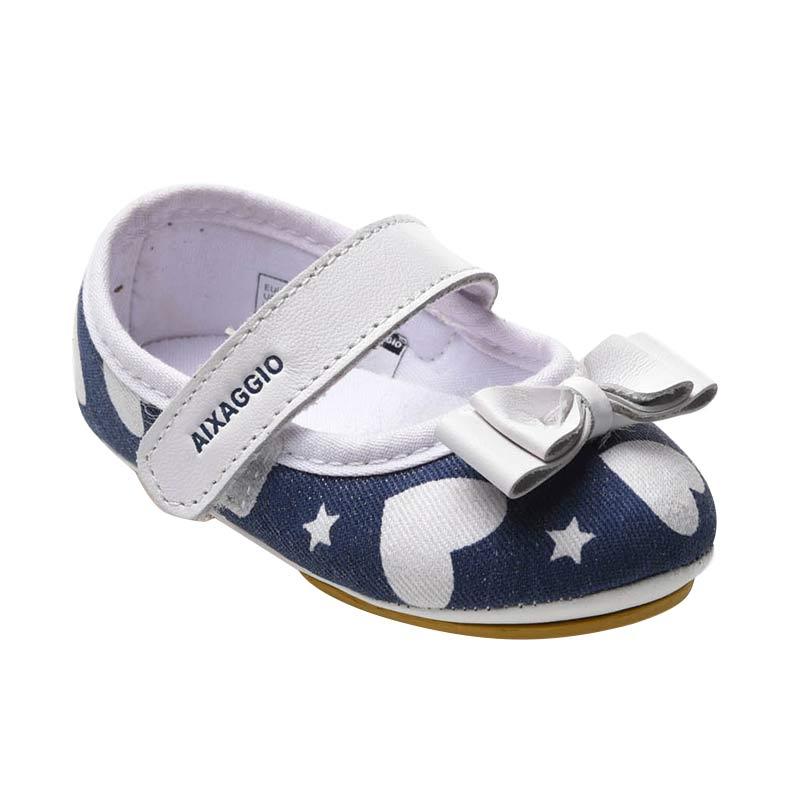 Aixaggio Satin Navy Sepatu Bayi
