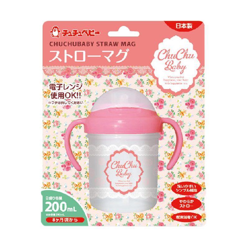 Chuchu Mug Straw Pink Botol Susu [200 mL]