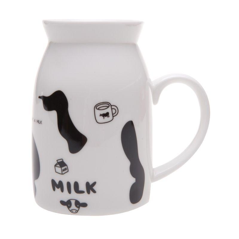 Deye Milk Black Mug Cangkir [400 mL]