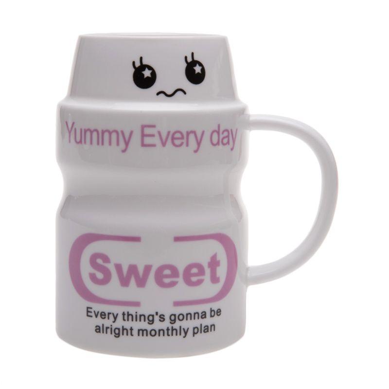 Deye Yougurt Sweet Putih Mug Cangkir [350 mL]