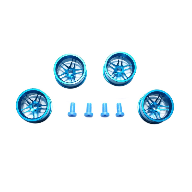 harga Akiba Hobby Aluminium Wheel 5 Spoke for Tamiya Mini 4WD - Biru [Size L] Blibli.com