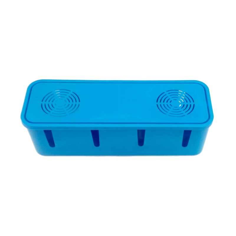 Akuniku Pengaman Stop Kontak Cable Box Organizer Blue