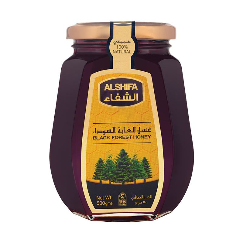 AL SHIFA HONEY Black Forest Honey Glass Bottle [500 gr]
