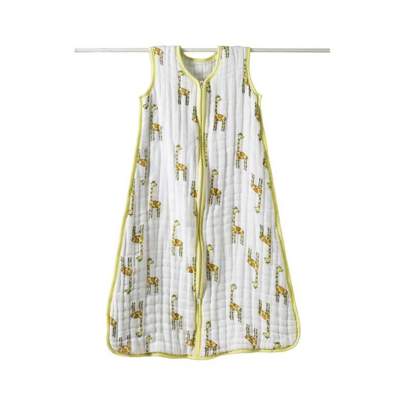 Aden Anais Cozy Muslin Sleeping Sacks Giraffe Size M (baby weight 7-11 kg) - Kantong Tidur Bayi