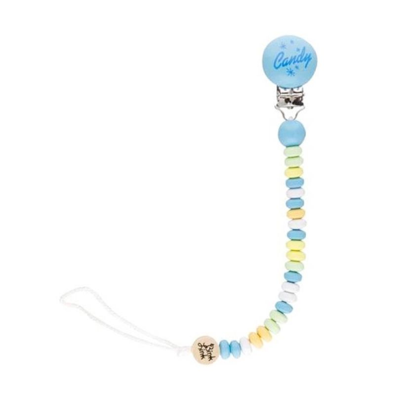 Bink Link Pacifier and Teether Clips Candy Boy Multicolors