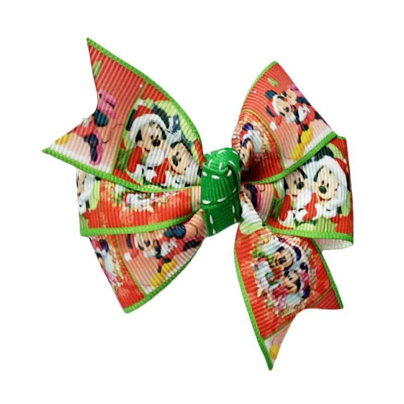 Bowlicious Mickey and Minnie Xmas Celebration Hair Clip