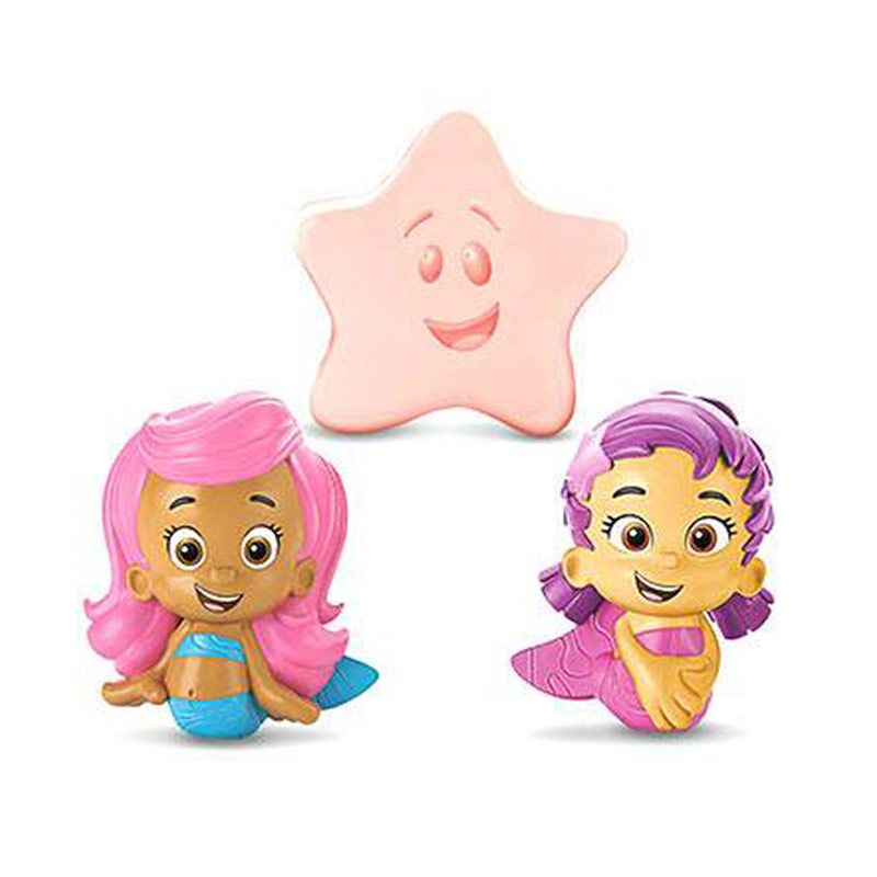 Fisher Price Bubble Guppies Molly, Oona and Starfish Bath Squirters Mainan Anak
