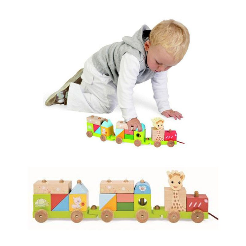 Janod Wooden Train Sophie La Giraffe Mainan Bayi