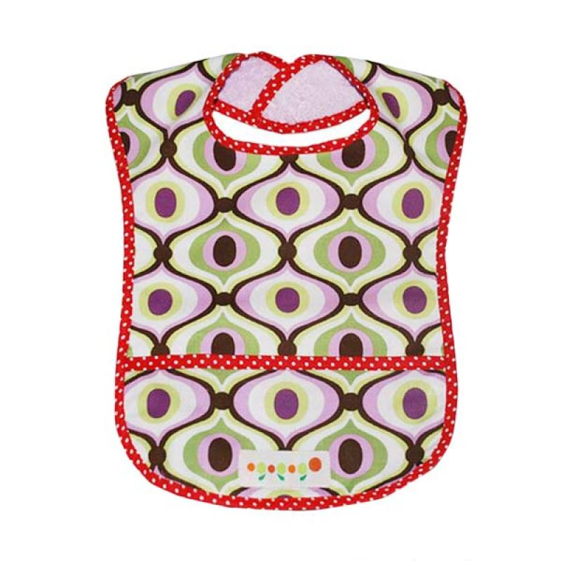 Ogopogo Dressy Droller Pocket Bib Groovy Heart