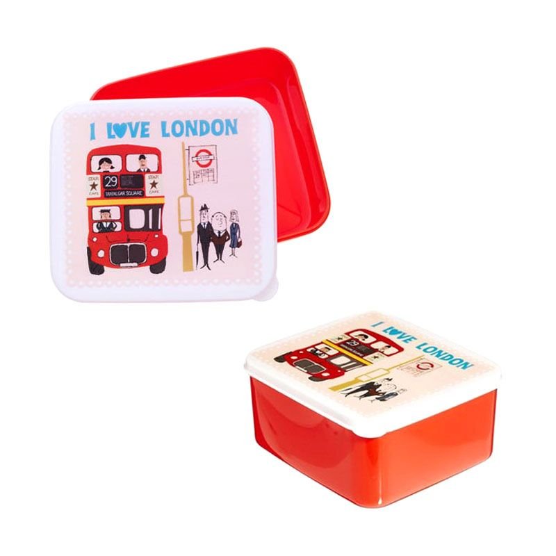 Rex International I Love London Lunch Box Red