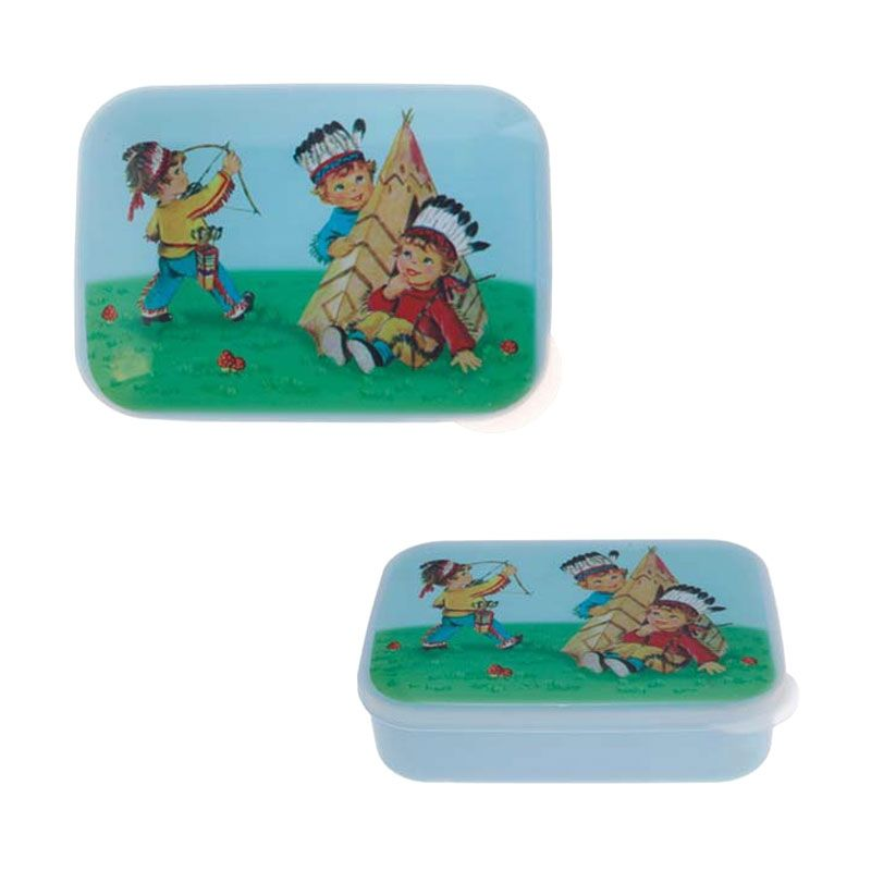 Sass and Belle Cowboys and Indians Lunch Box Blue