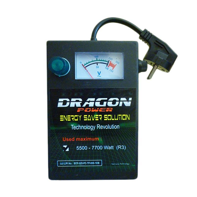 Dragon Sertifikasi LIPI Type R3 Hitam Alat Penghemat Listrik [5500-7700 Watt]