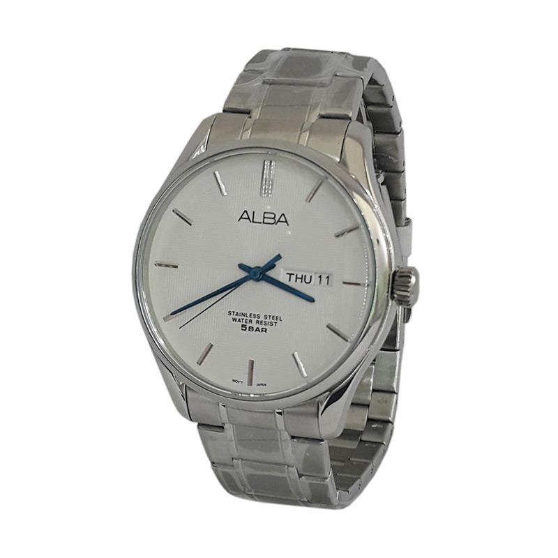 Alba 161100 Analog Jam Tangan Pria - Silver