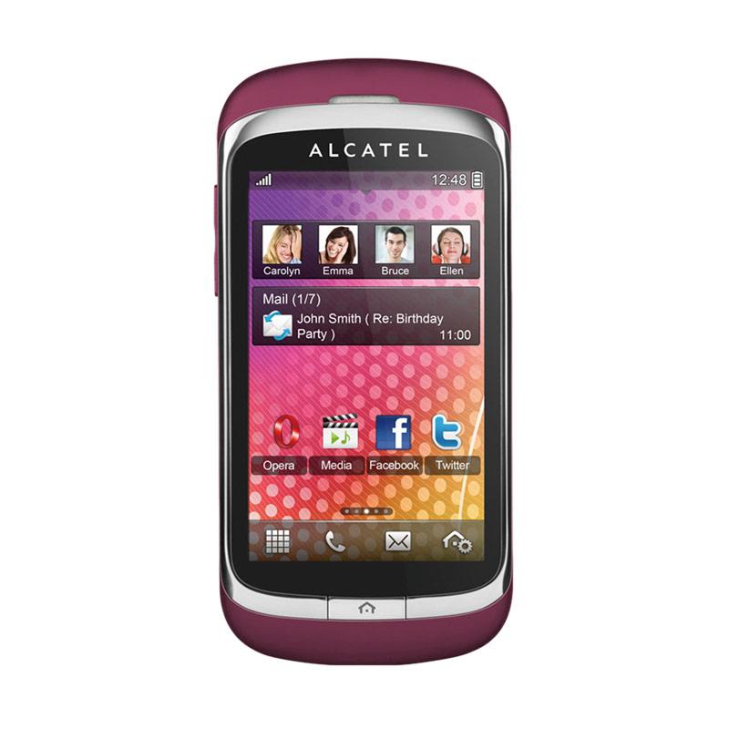 harga Alcatel OT-818D Handphone - Red [Dual-on GSM] Blibli.com