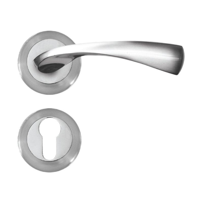 Alessa Rosette Seri 9 R-09008-100-L-01 Full Set Door Handle Gagang Pintu