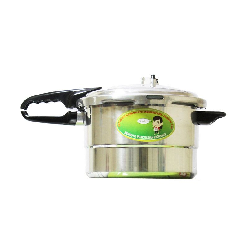 Twin Dog Pressure Cooker Silver