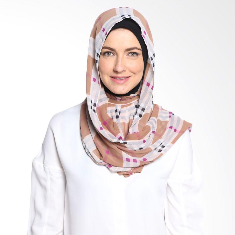 ALLS SCARF Royal Scarf Sifon B 014 01 Brown Hijab