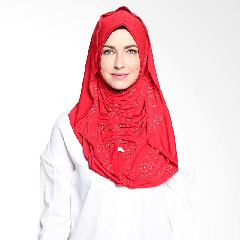 ALLS SCARF Syiria Kerut B 020 01 Red Hijab