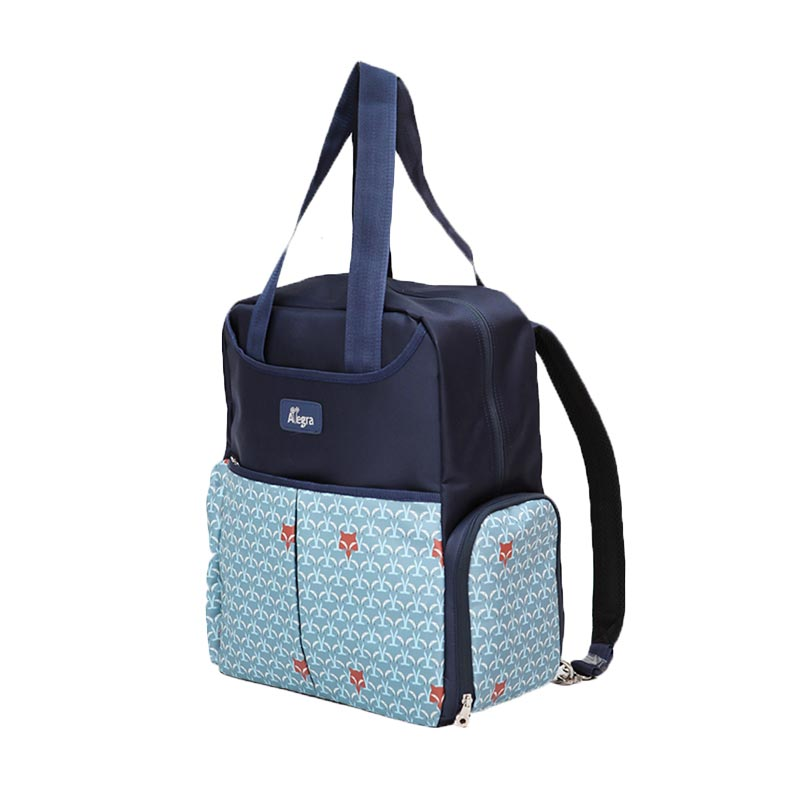jual allegra foxie cooler diaper backpack grey online harga kualitas terjamin. Black Bedroom Furniture Sets. Home Design Ideas