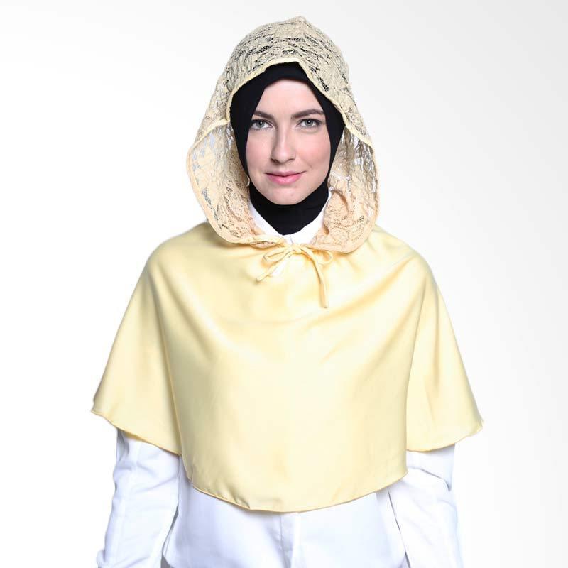 ALLS SCARF Cape hoodie Satin B 005 01 Yellow Hijab