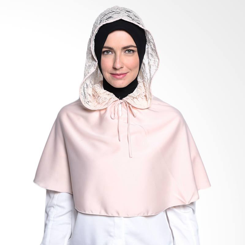 All's Scraf Cape hoodie Satin B 005 03 Peach Hijab