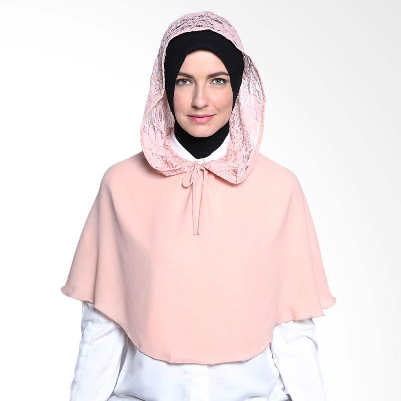 ALLS SCARF Cape hoodie Brokat B 004 03 Peach Hijab