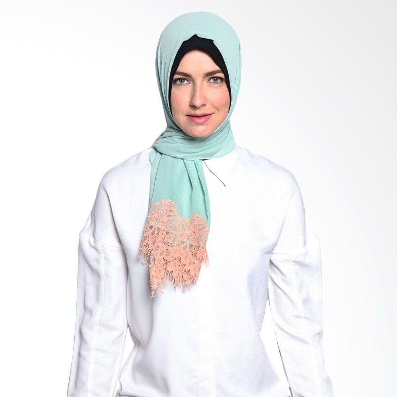 ALLS SCARF Lacey Shawl B 009 03 Green Hijab