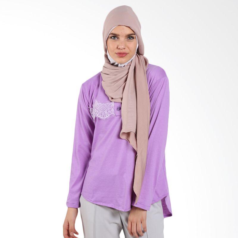 Almera Dygta Lace Tunic M5616 Purple Atasan Muslim