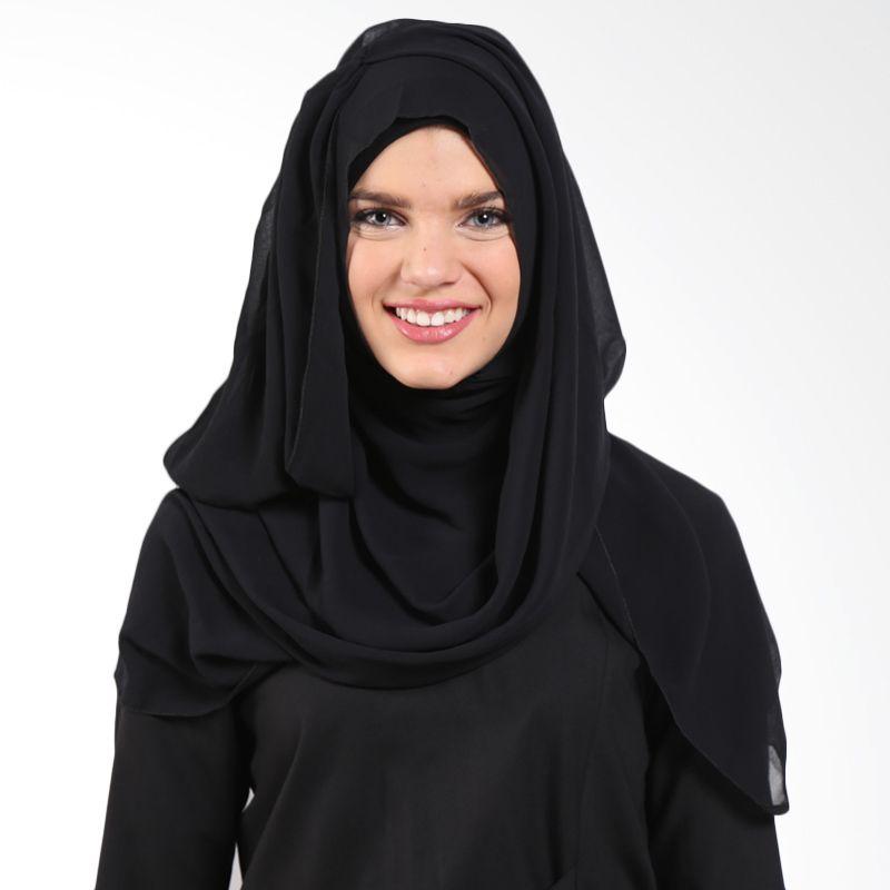 Almera Saraly Instant M5760 Black Pashmina Hijab