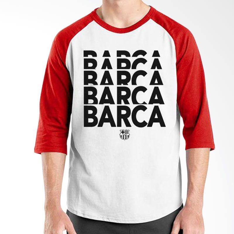 Ordinal Barcelona Edition 01 Raglan Putih Merah T-Shirt Pria