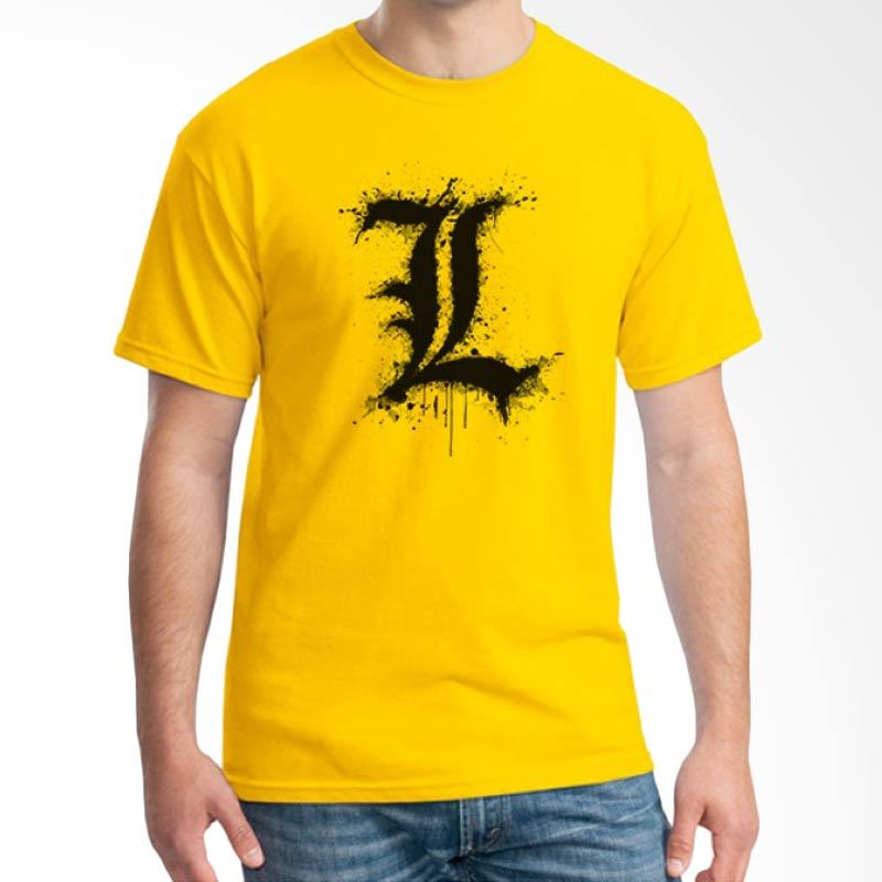 Ordinal Death Note 05 Kuning T-Shirt Pria