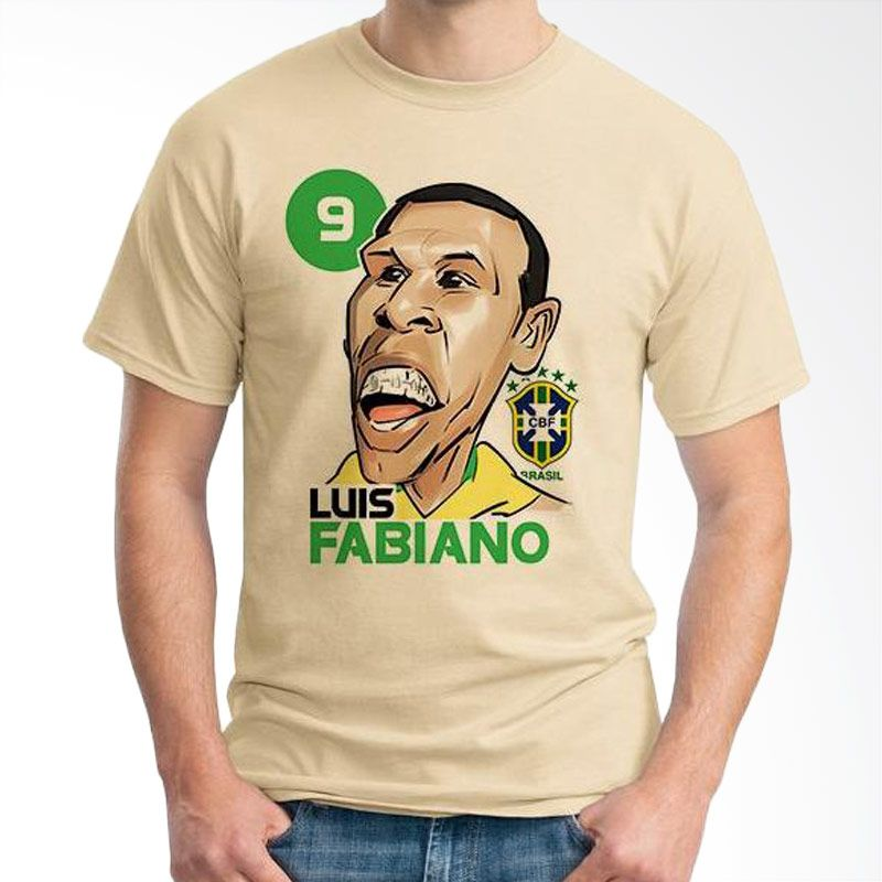 Ordinal Football Player Edition 40 Coklat Krem T-Shirt Pria