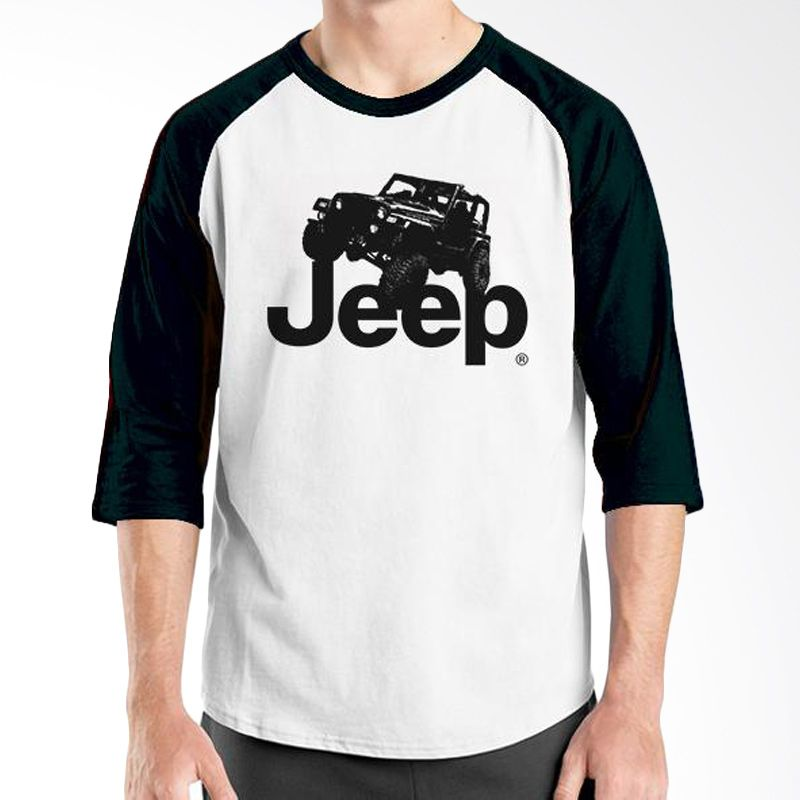Ordinal Raglan Jeep Series Edition 01 Hitam Putih T-Shirt Pria