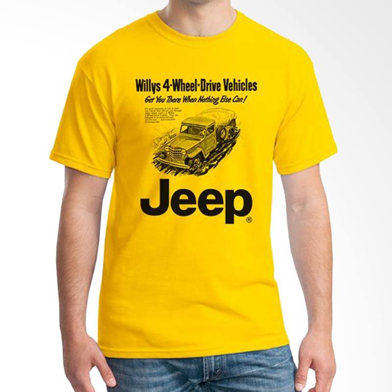 Ordinal Jeep Series Edition 04 Kuning T-Shirt Pria