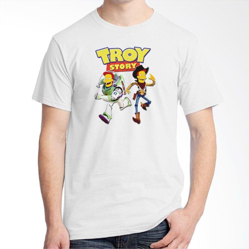 Ordinal Movie Logo Parody 11 Putih Kaos Pria