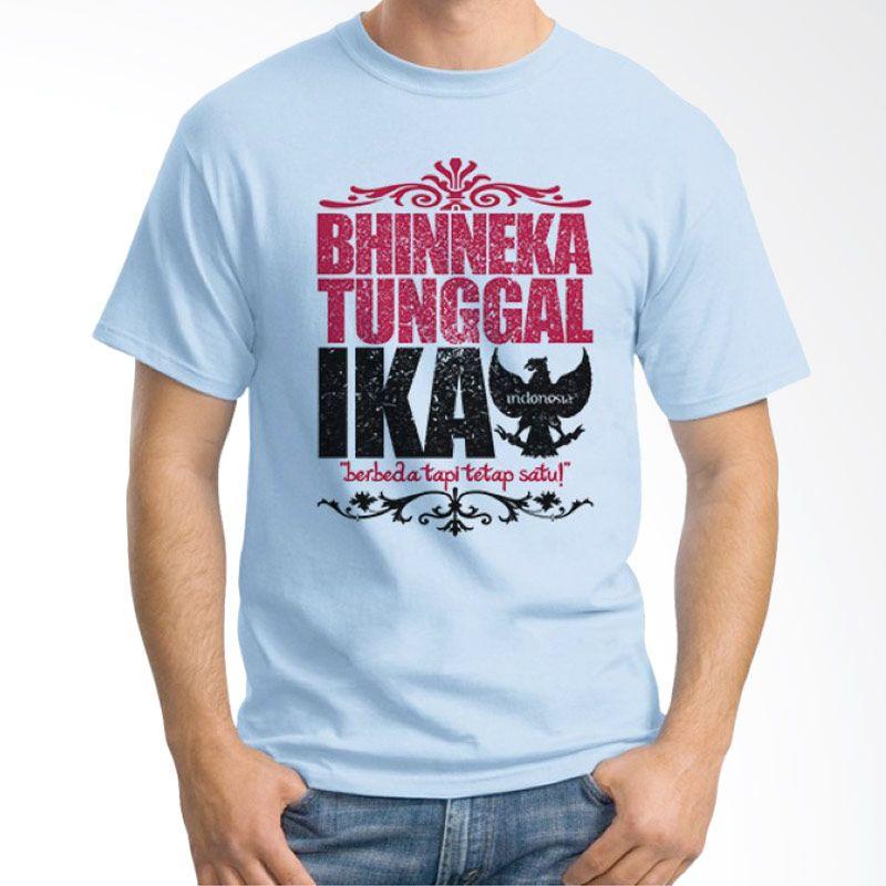 Ordinal One Indonesia 10 Biru Muda Kaos Pria