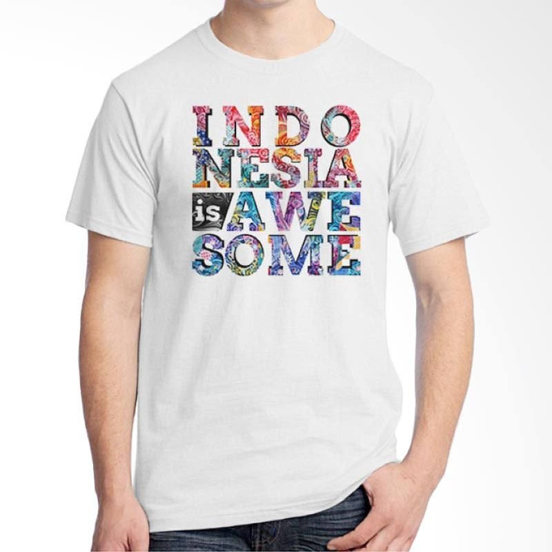 Ordinal One Indonesia 12 Putih Kaos Pria