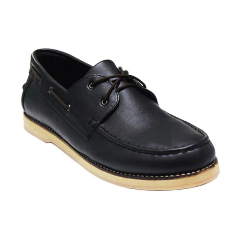 Golden Glory Stagger Black Sepatu Pria