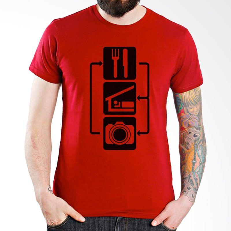 Ordinal About Photography Edition 06 Merah Kaos Pria