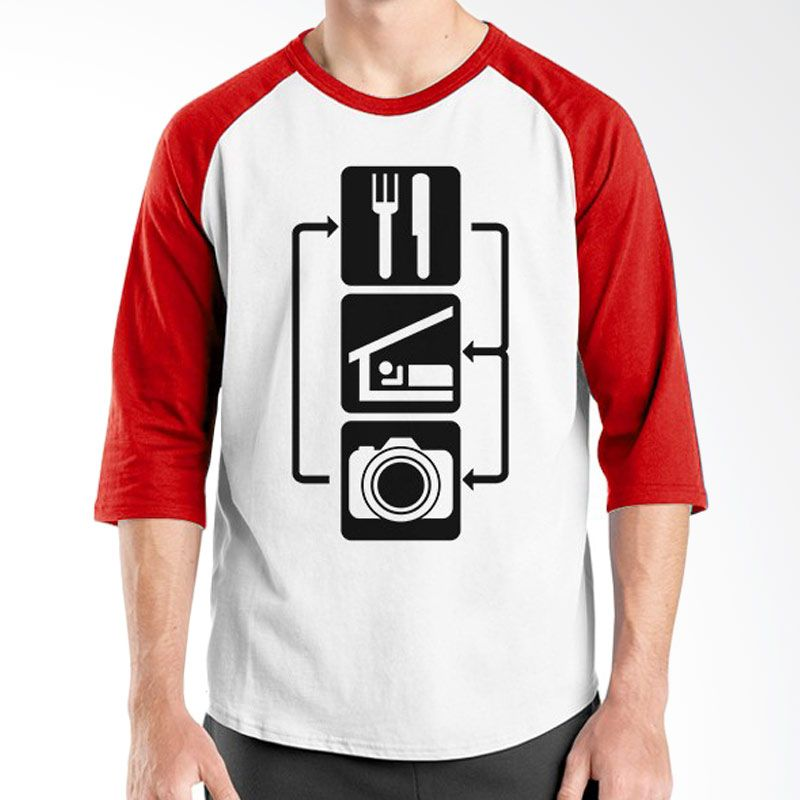 Ordinal Raglan About Photography Edition 06 Merah Putih Kaos Pria