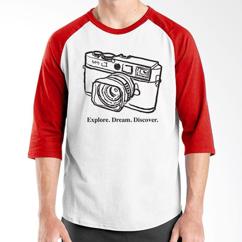 Ordinal Raglan About Photography Edition 08 Merah Putih Kaos Pria