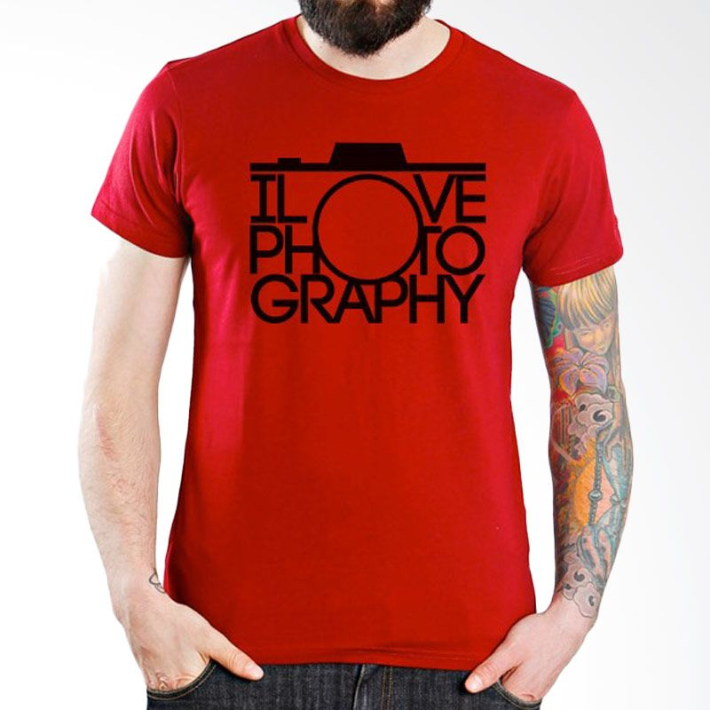 Ordinal About Photography Edition 12 Merah Kaos Pria